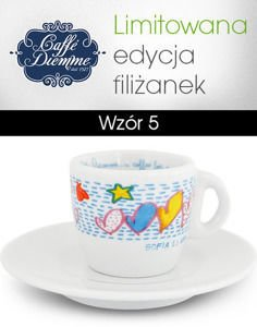 "Filiżanka ""Caffe Diemme...a coffee for a smile"" Espresso 70ml - wzór 5"