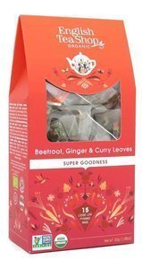 Owocowa herbata English Tea Shop Beetroot Ginger & Curry Leaves 15x2g - opinie w konesso.pl