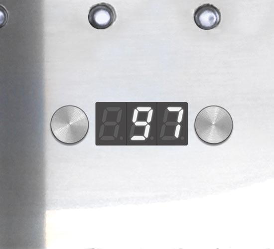 Elektroniczna kontrola procesu parzenia kawy Ascaso UNO PID Inox&Wood
