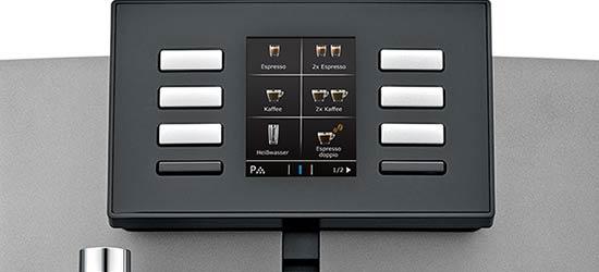 Kolorowy wyświetlacz ekspresu automatycznego Jura X6