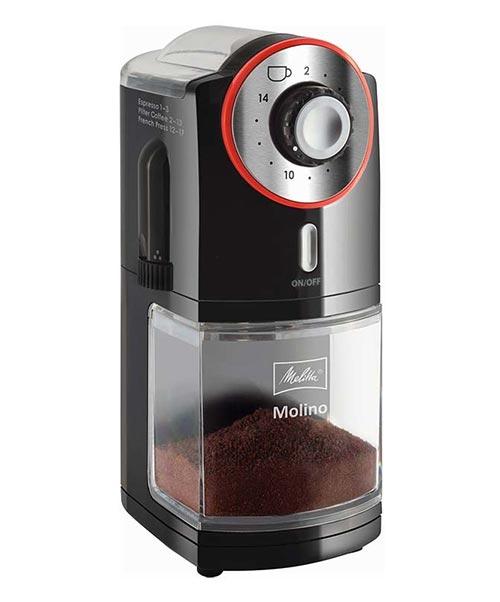 Młynek do kawy Melitta Molino czerwono-czarny