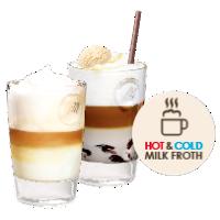 Gorąca i zimna pianka mleczna