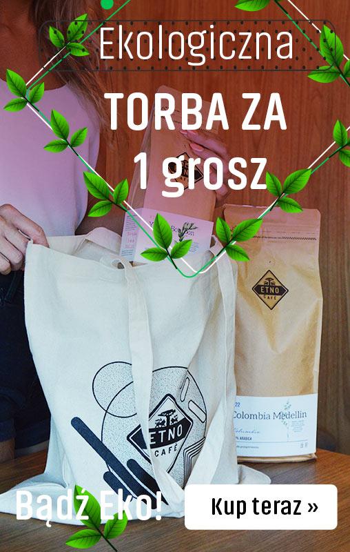 Ekologiczna torba Etno caffe za 1 grosz