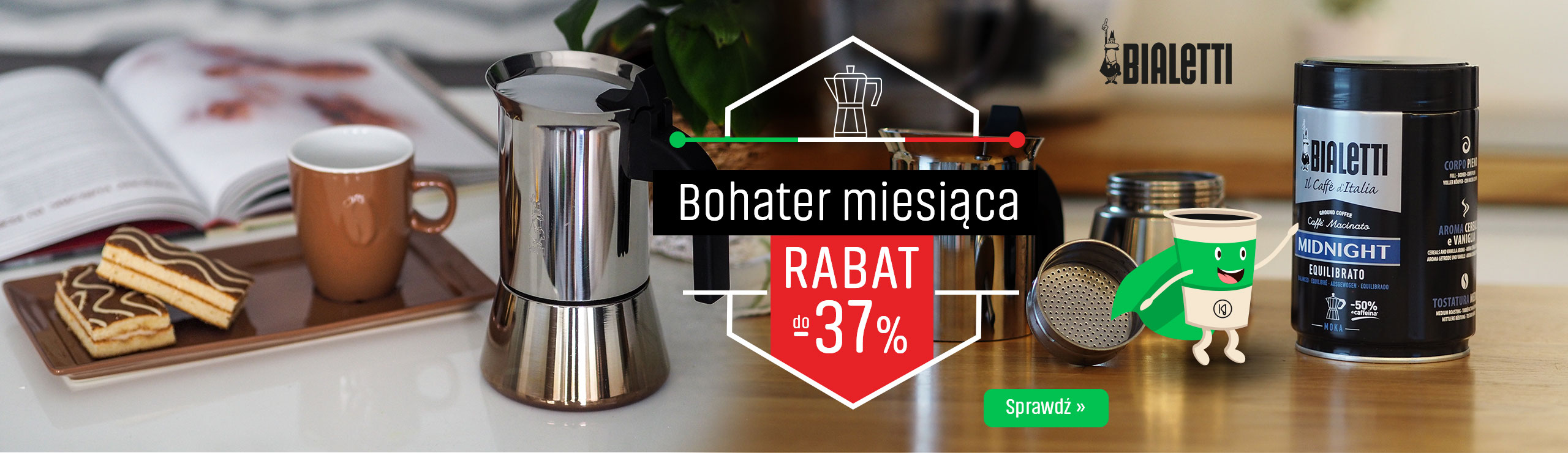 Kawiarki Bialetti z rabatem do -37%