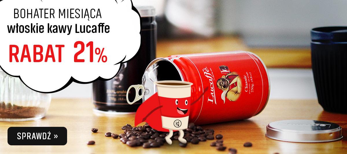 Bohater miesiąca kawy Lucaffe z rabatem 21%