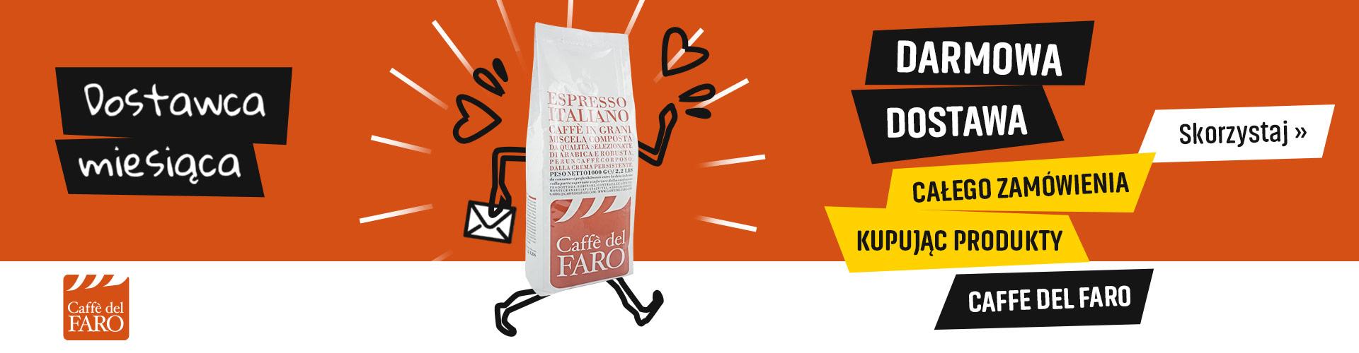 Darmowa Dostawa kupując produkty palarni Caffe Del Faro
