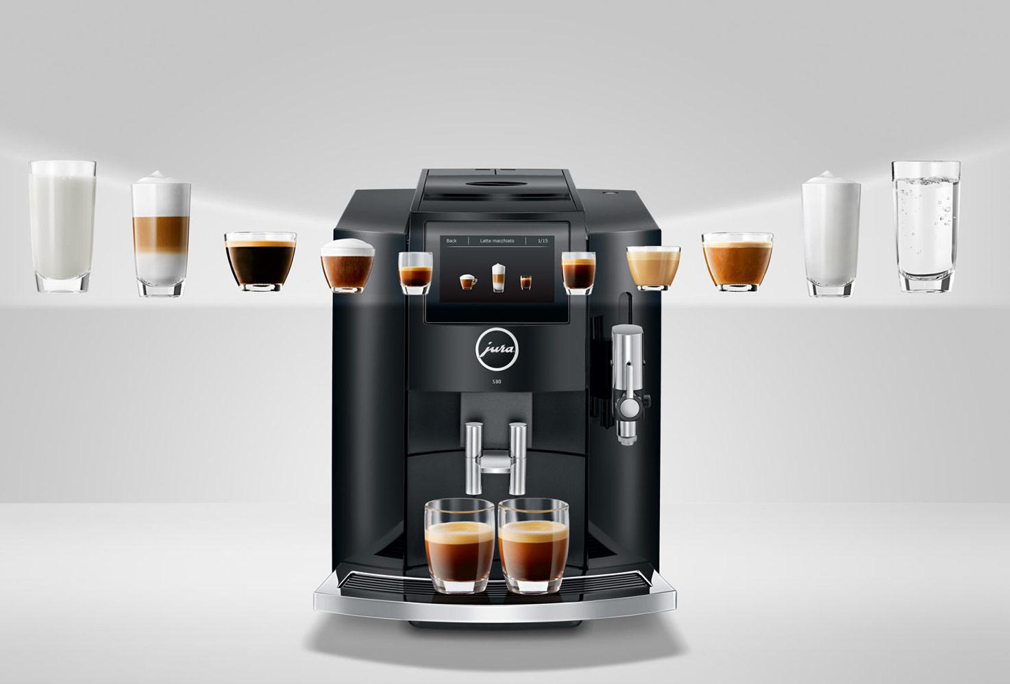 Wybierz swój specjał kawowy w ekspresie Jura