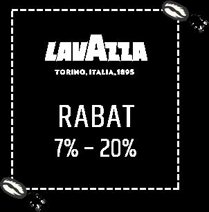 Kawy Lavazza z rabatem od 7% do 20%