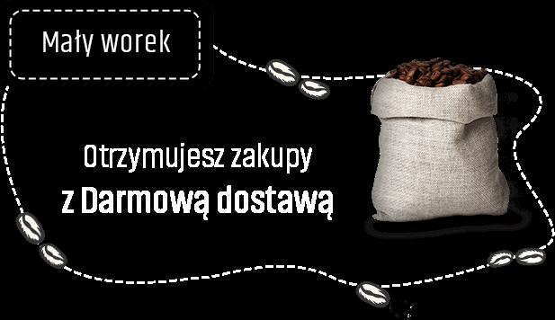 Mały worek kawy - Otrzymujesz zakupy z Darmowa dostawą