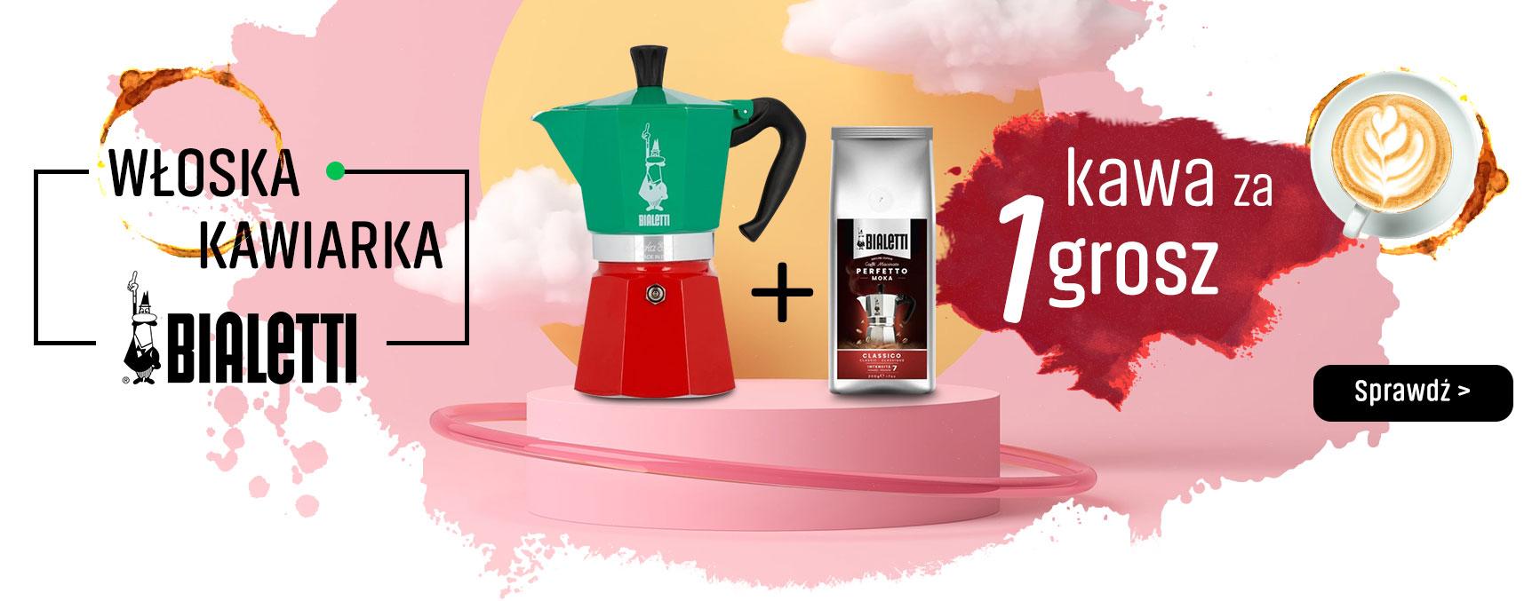 Włoska kawiarka BIaletti + kawa za 1 grosz
