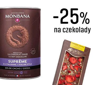 3. Zniżka -25% na czekoladę zostanie naliczona automatycznie.