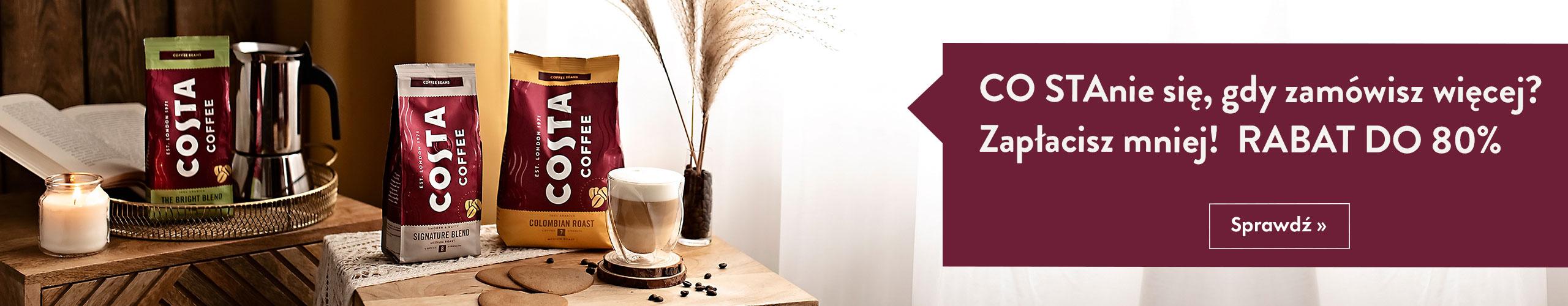Rabaty na kawy Costa Coffee do -80%