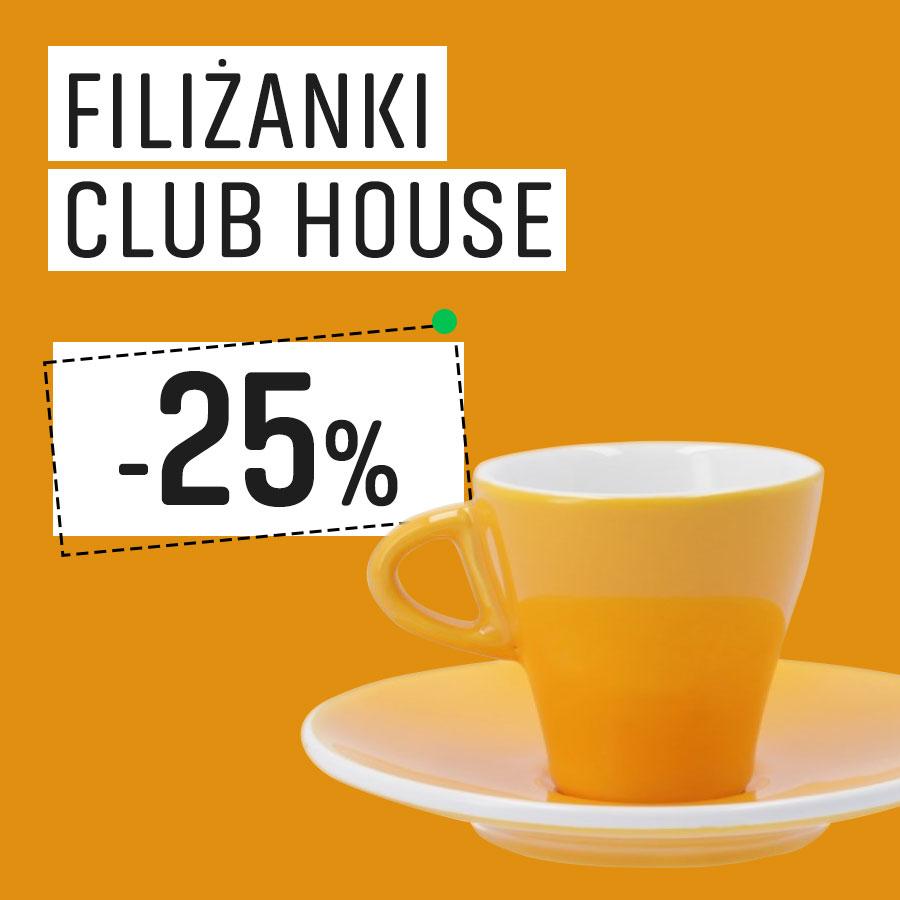 Filiżanki Club House 25% taniej