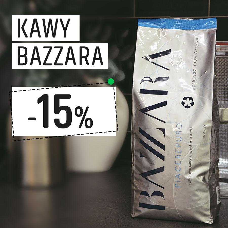Kawy Bazzara 15% Taniej