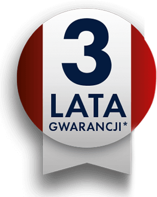 3 lata Gwarancji na ekspres Delonghi