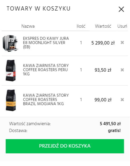 2. Dodaj do koszyka wybrane kawy                                                                     objęte promocją