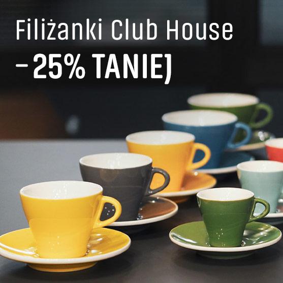 Filiżanki Club House -25% Taniej