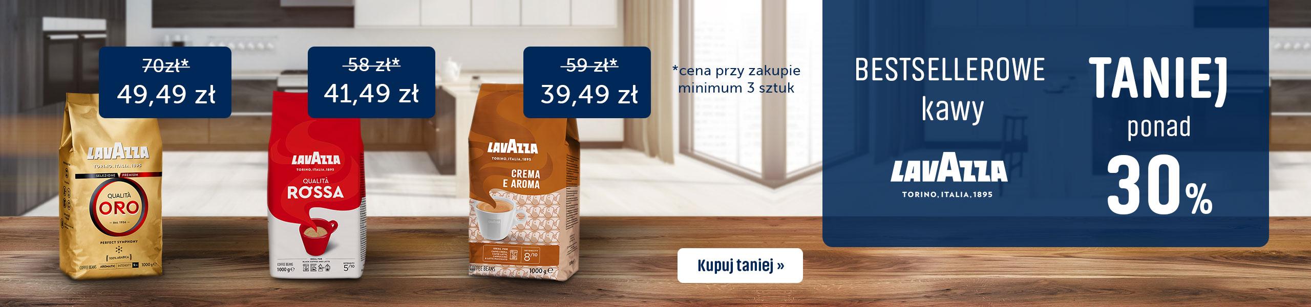 Bestsellerowe kawy Lavazza 30% Taniej