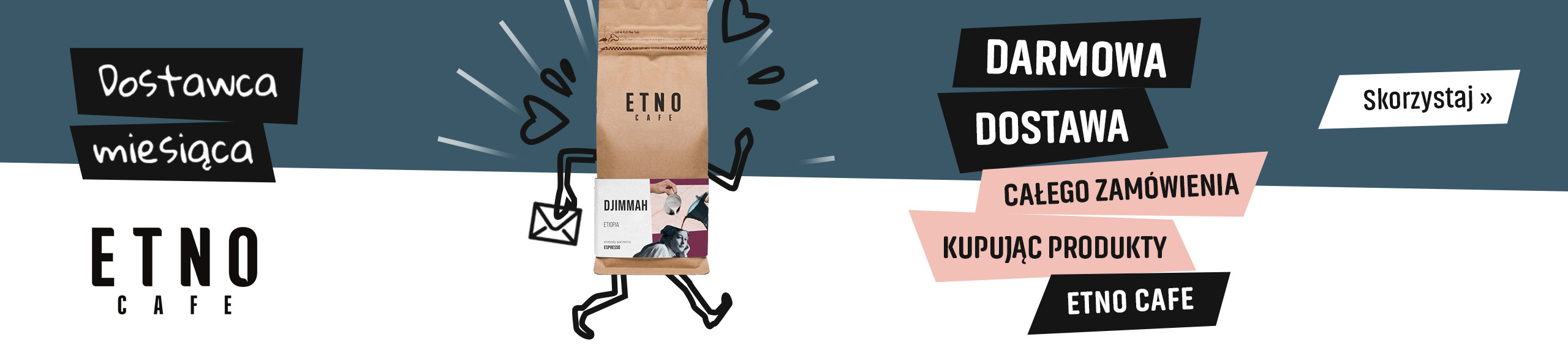 Darmowa Dostawa kupując produkty palarni Etno Cafe
