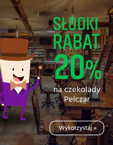 Rabat 20% na czekolady Pelczar