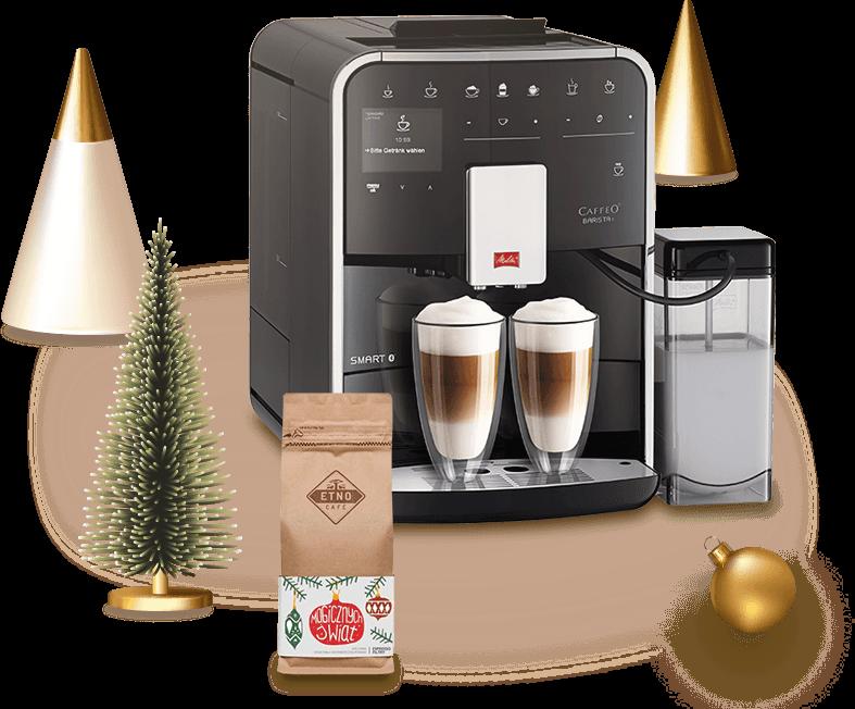 Ekspres automtyczny Melitta oraz kawa ziarnista Etno Cafe