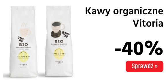 Kawy Vitoria 40% taniej