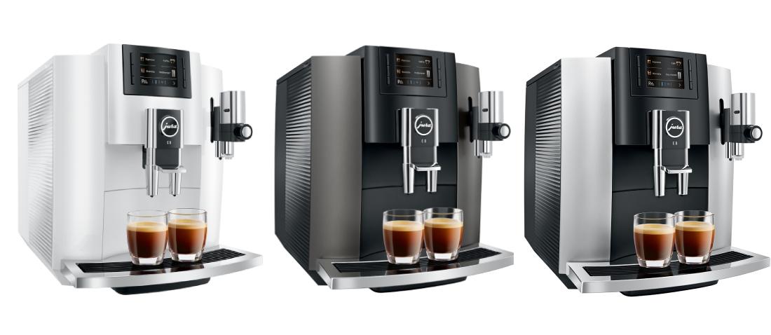 Ekspres do kawy Jura E8 - dostępne kolory