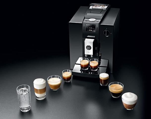 Ekspresy automatyczne mają szeroki zakres specjałów kawowych
