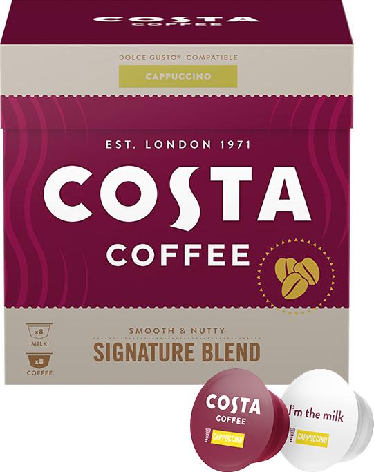 KAWA W KAPSUŁKACH COSTA COFFEE SIGNATURE BLEND CAPPUCCINO KOMPATYBILNA Z DOLCE GUSTO®* - 16 SZT.