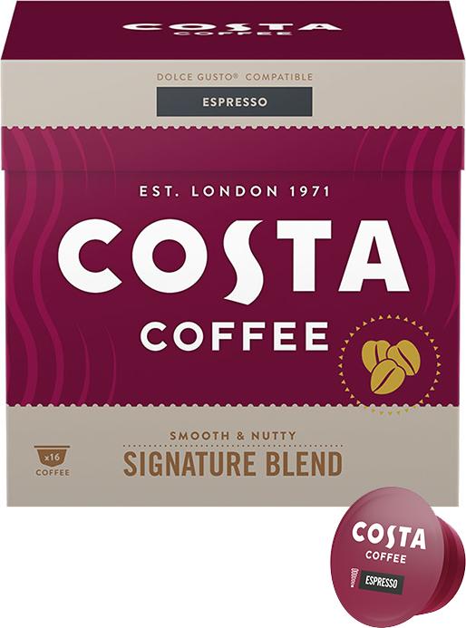 KAWA W KAPSUŁKACH COSTA COFFEE SIGNATURE BLEND ESPRESSO KOMPATYBILNA Z DOLCE GUSTO®* - 16 SZT.