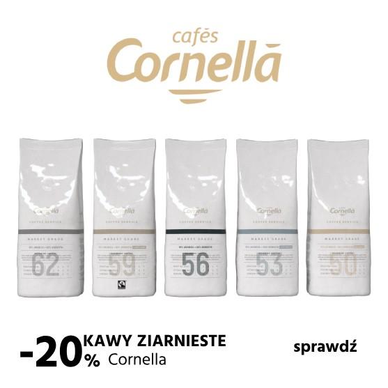 20% na kawy cornella