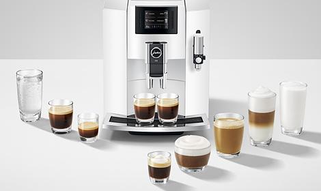 Широкий асортимент кавових страв на Jura E8
