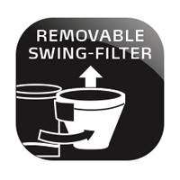 Wyjmowany pojemnik filtra