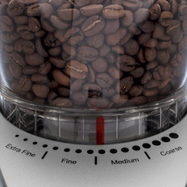 Regulacja stopnia mielenia kawy w młynku Nivona cafegrano 130