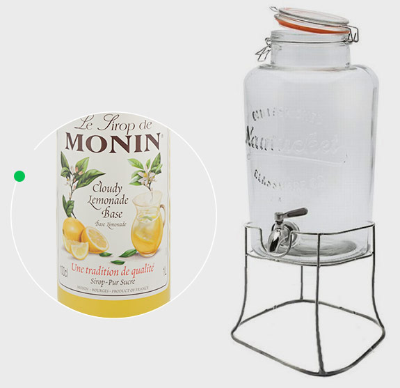Monin Cloude Lemonade Base Monin 1l + słój Monin