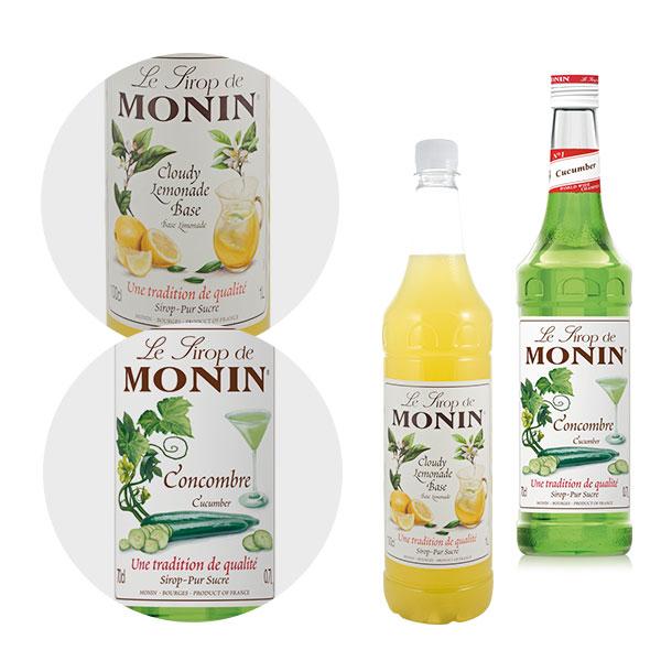 Monin Cloude Lemonade Base Monin 1l, Syrop Ogórkowy Monin 0,7 l