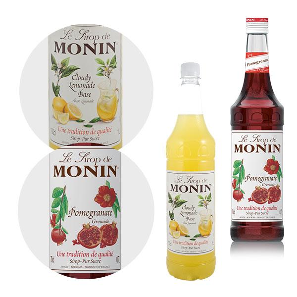 Monin Cloude Lemonade Base Monin 1l, Syrop grejpfrutowy Monin 0,7 l