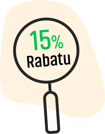 15% rabatu