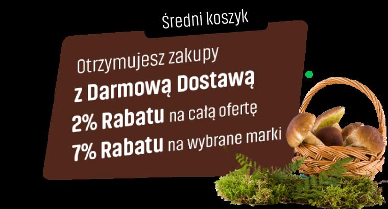 Kawobranie Konesso - Średni koszyk - Rabaty rosną jak grzyby po deszczu