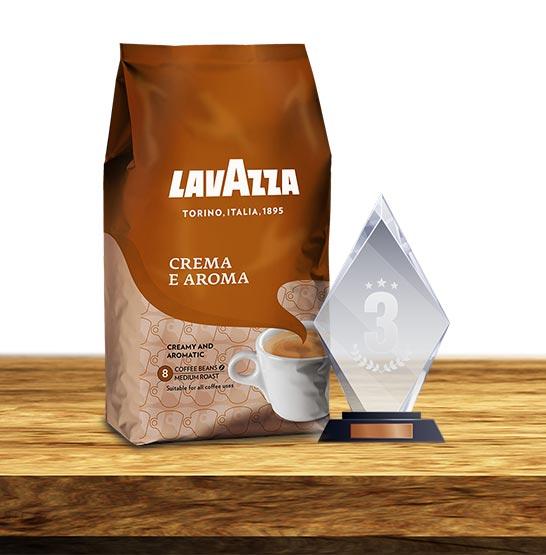 Brąz w rankingu kawy ziarnistej wywalczyła Lavazza Crema e Aroma