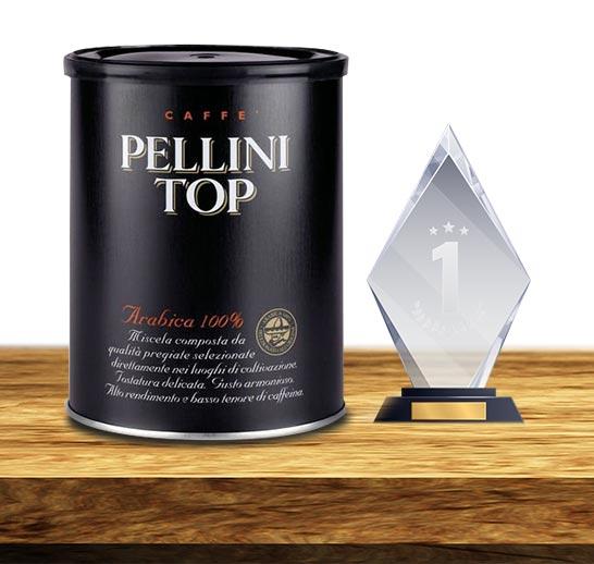 Pierwsze miejsce w rankingu kawy mielonej zajęła kawa Pellini Top