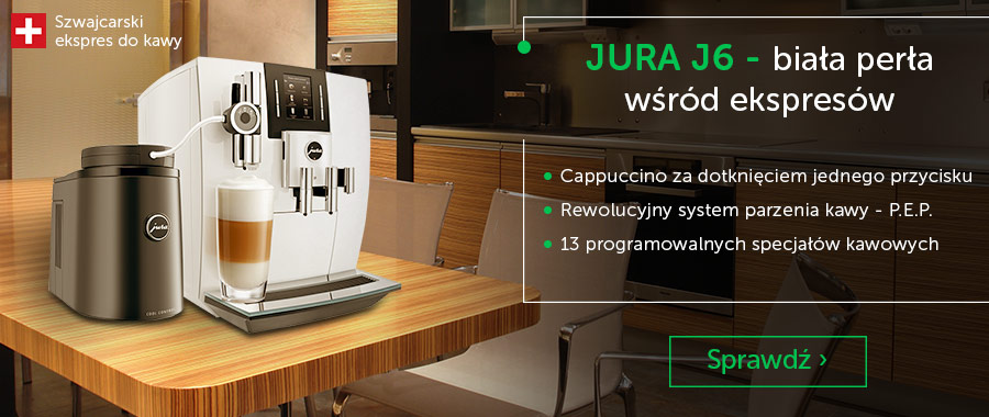 Ekspres do kawy Jura J6 Piano White