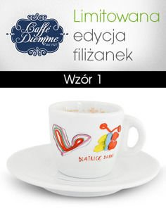 "Filiżanka ""Caffe Diemme...a coffee for a smile"" Espresso 70ml - wzór 1"