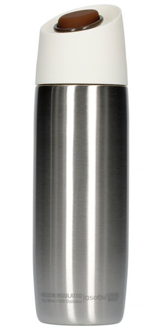 Asobu 5th Avenue Coffee Tumbler - srebrny kubek termiczny 390 ml