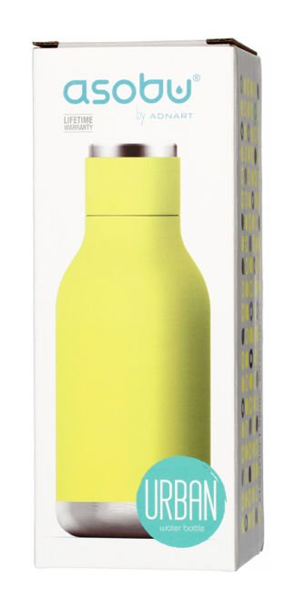 Asobu Urban Water Bottle - limonkowa butelka termiczna 460 ml