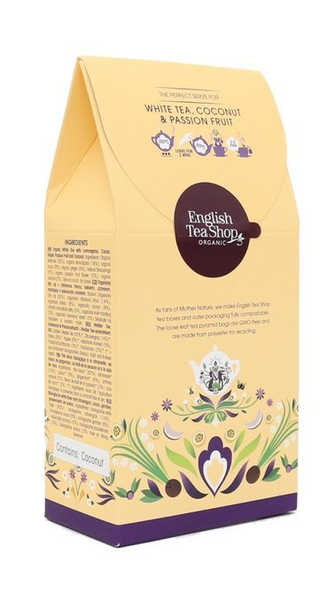 Biała herbata English Tea Shop White Tea Coconut & Passion Fruit 15x2g