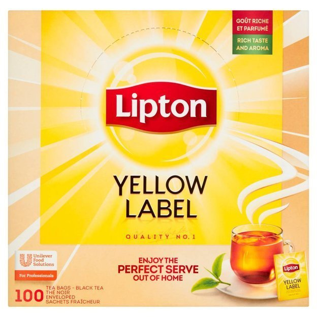 Czarna herbata Lipton Yellow Label 100x1,8g