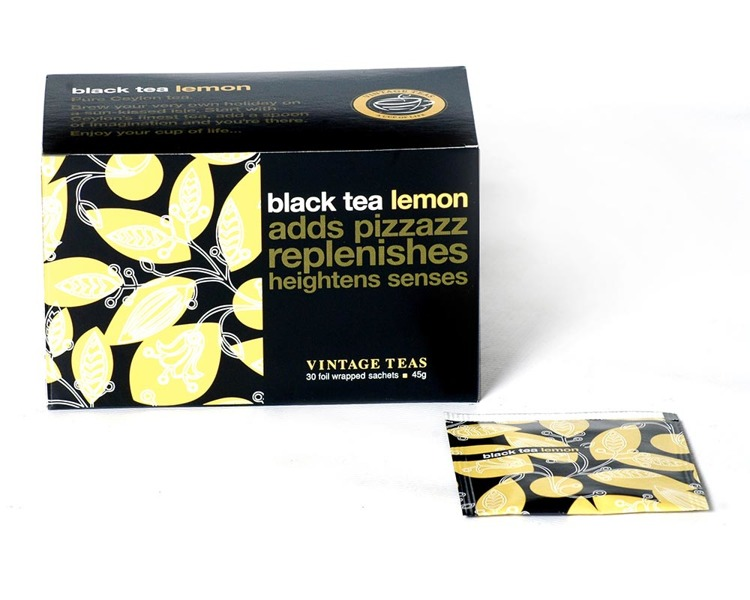 Czarna herbata Vintage Teas Black Tea Lemon - 30x1,5g