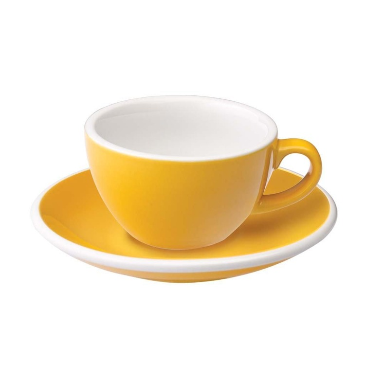 Filiżanka do flat white Loveramics Egg 150ml - yellow