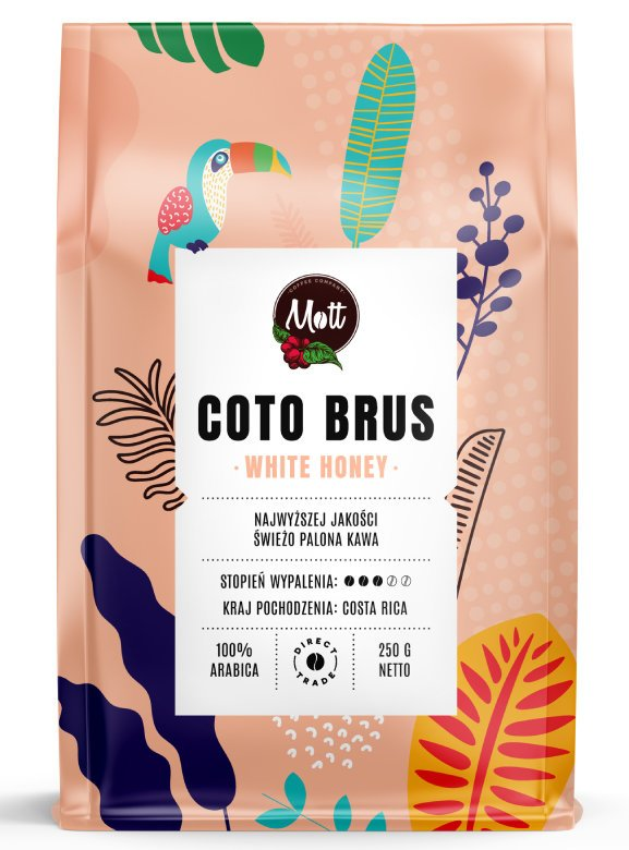 Kawa ziarnista Mott Coffee Coto Brus White Honey 250g
